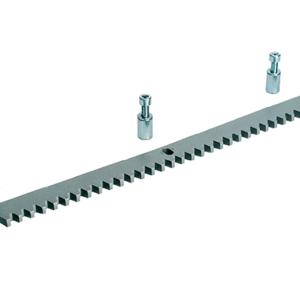 CA083001 Рейка зубчатая 1 м, модуль 4 Из оцинкованной стали 30 x 8 мм с отверстиями и втулками для крепления
