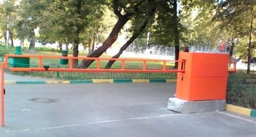 Антивандальный автоматический шлагбаум для проезда шириной до 4 м c установкой