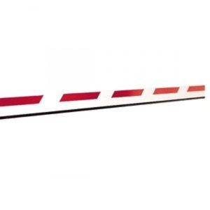 Стрела для шлагбаума FAAC прямоугольная с демпфером и светоотражающими наклейками