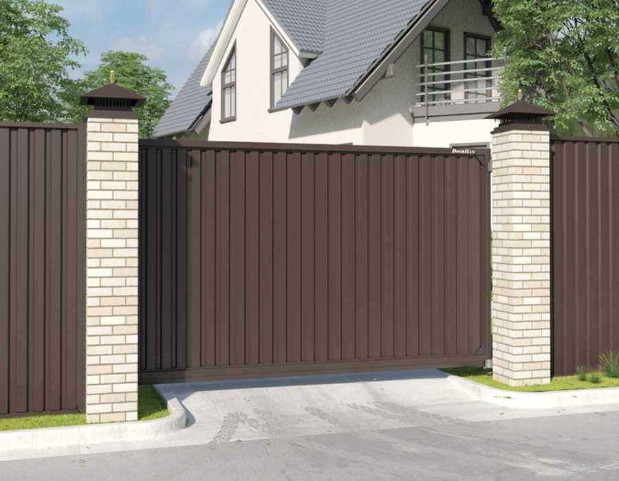 Откатные ворота DoorHan 4500x2200 мм.
