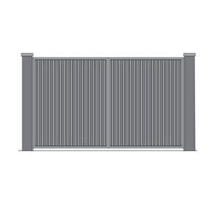 Распашные ворота 3500x2000 мм. обшитые профлистом с двух сторон