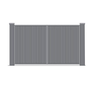 Распашные ворота 4000x2000 мм. обшитые профлистом с двух сторон