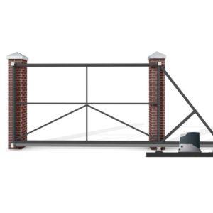 Откатные ворота 4500x1750 мм. с автоматикой NICE RD400