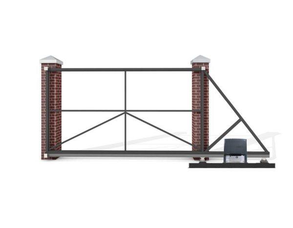 Откатные ворота 5000x1500 мм. с автоматикой CAME BX608AGS