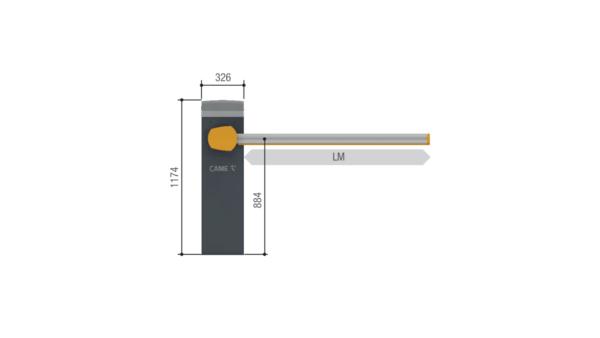 Комплект шлагбаума GARD PX